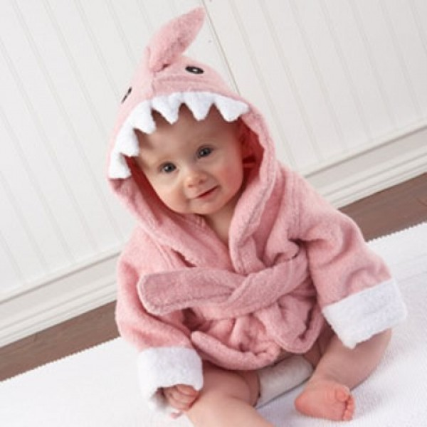 """""""Let the Fin Begin"""" Pink Shark Robe (Personalization Available)"""