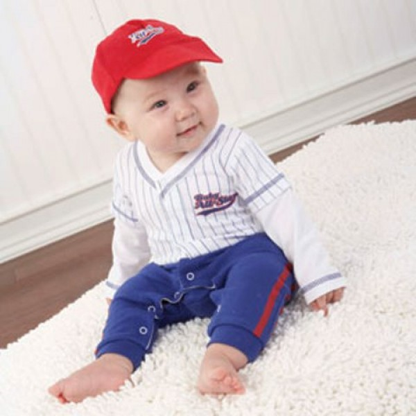 """Big Dreamzzz"" Baby Baseball Three-Piece Layette Set in All-Star Gift Box (Personalization Available)"