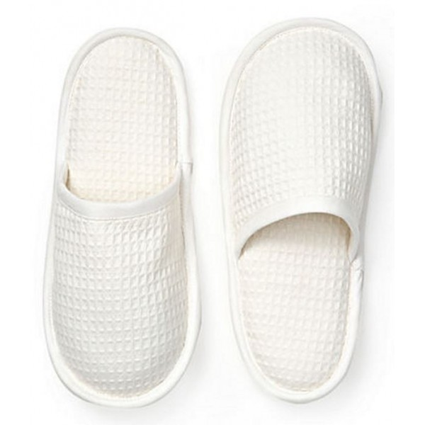 Slippers, Closed Toe - Waffle Weave (No Embroidery)